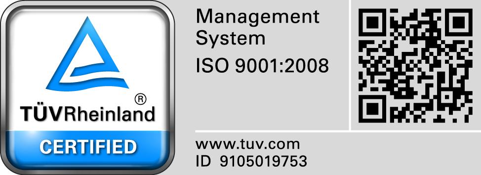 Certificado ISO 9001:2008 de Pirobloc S.A.