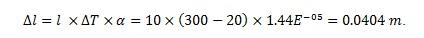 formule de dilatation