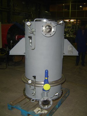 Inline heat recovery boiler Specifically for boiler gases