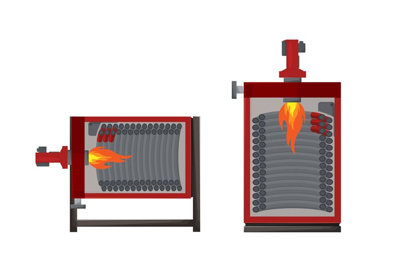 PIROBLOC heat transfer fluid boilers with liquid or gaseous fuels